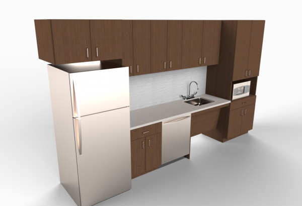 3d modeling of custom cabinet